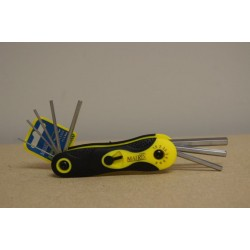 Hex Key Set (Fold Up Style) - Metric ~ 8 pieces