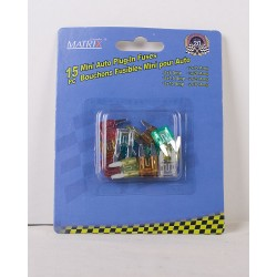 Mini Auto Plug-In Fuses ~ 15/pc