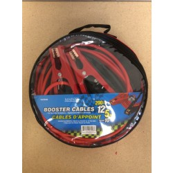 Booster Cables, 200 amps ~ 12' Long