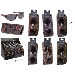 Excel Vision Adult's Camo Sunglasses w/Case