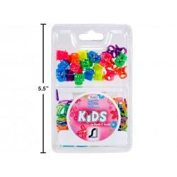 Kid's Elastic Ponyholder & Mini Clips Accessories Set ~ 320 per pack
