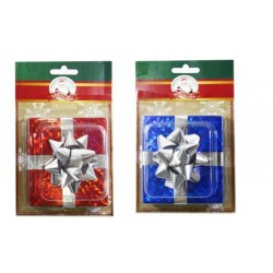Christmas Laser Gift Box with Bow ~ 1 per pack