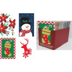 "Christmas (Shirt Size) Folding Gift Box - 14-3/4"" x 9-1/2"" x 1-15/16"" ~ 2/pk"