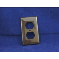 Duplex Outlet Cover ~ Brown