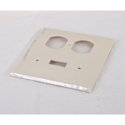 Combination Switch & Duplex Outlet Cover ~ Ivory