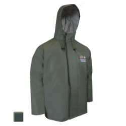 Jackfied PVC Green Rain Jacket {Oil Gear}