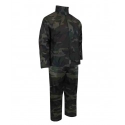 Camo Wind & Waterproof Rain Suit ~ Jacket & Pants