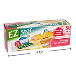 "EZ Stor Zipper Seal Storage Bags - 6-1/2"" x 3-1/4"" ~ 50 per box"