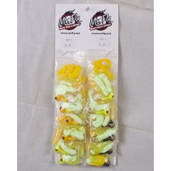 Mr. Fly Assorted Jig Heads - 3/8 oz & 3 Rubber Tails