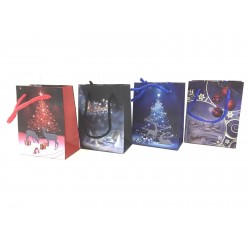 Christmas Small Gift Bag ~ Reindeer Night Scene