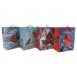 Christmas Medium Gift Bag ~ Cardinals