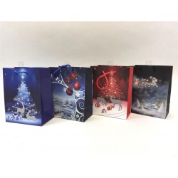 Christmas Medium Gift Bag ~ Reindeer Night Scene