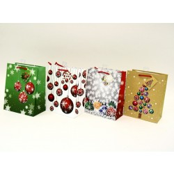 Christmas Medium Gift Bag ~ Tree Balls