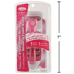 Ladies Triple Blade Razors w/3 Cartridges