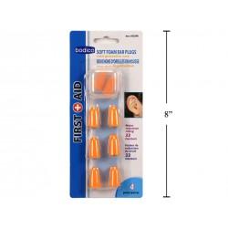 Bodico Soft Foam Ear Plugs ~ 4 pairs