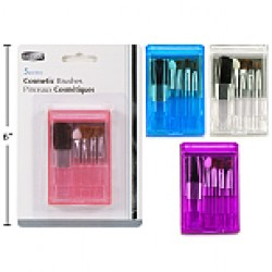 Cosmetic Brush Set w/Case & Mirror