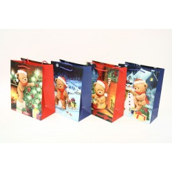 Christmas Large Gift Bag ~ Teddy Bears
