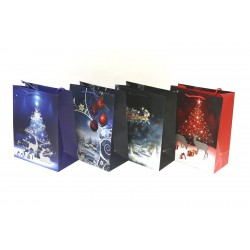 Christmas Large Gift Bag ~ Reindeer Night Scene