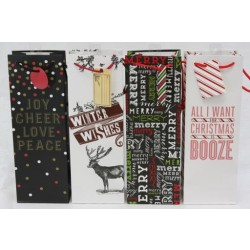 Christmas Bottle Gift Bag ~ Words