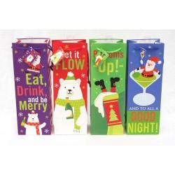 Christmas Bottle Gift Bag ~ Humorous Sayings