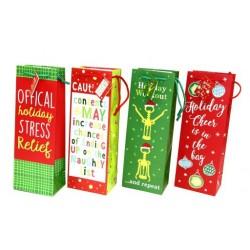Christmas Bottle Gift Bag ~ Funny Sayings