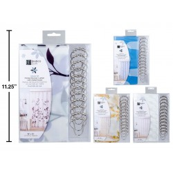 Bodico Shower Curtain with 12 Hooks