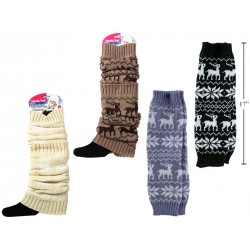 Ladies Jacquard Leg Warmers