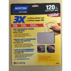 "High Performance Sandpaper ~ 9""x11"" ~ 120 grit"