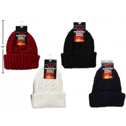 Ladies Thermal Insulated Cable Knitted Hat
