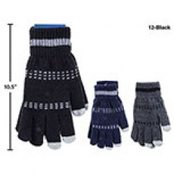 Men's Wool Gloves w/Texting Fingers