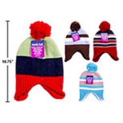 Baby's Knitted Hat w/Pom Pom