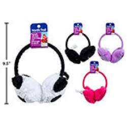 Kid's Earmuffs w/Plush Animal Heads