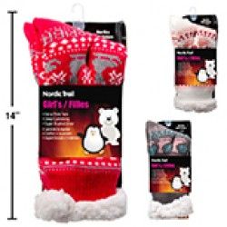 Girl's Thermal Insulated Slipper Socks