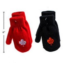 Kid's Magic Mittens with Embroidered Maple Leaf