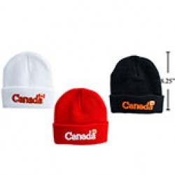 Adult's Knitted Toque with Canada Embroidered on Cuff