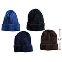 Men's Ribbed Knit Toque with Fleece Lining