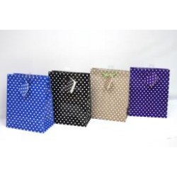 Medium Gift Bags ~ Small Polka Dots Glossy
