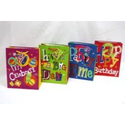 Medium Gift Bags ~ Happy Birthday Glossy