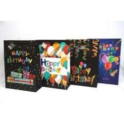 Jumbo Wide Gift Bags ~ Happy Birthday