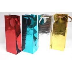 Christmas Bottle Gift Bag ~ Foil