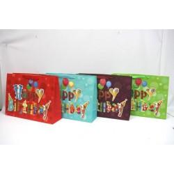 Jumbo Gift Bags - Horizontal ~ Birthday with Glitter