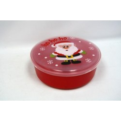 """Christmas Round Container with Santa ~ 7.5"""" x 3.15"""""""