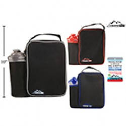 Insulated Lunch Bag w/Bottle Set