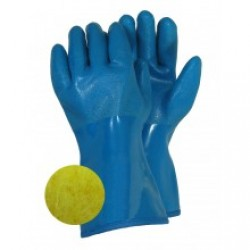 PVC Nitrile & Lined Gloves ~ Blue