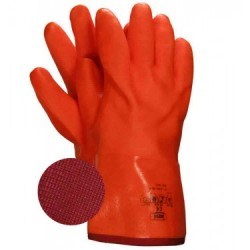 PVC Glove ~ Fluorescent Orange