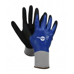 Nitrile Gloves with Elastic Wrist ~ Blue