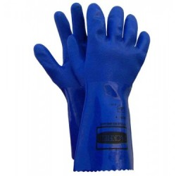 PVC Unlined Gloves ~ Blue