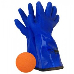 PVC & Lined Gloves ~ Blue