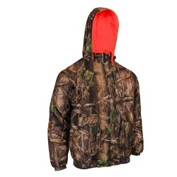 Camo Hunting Jacket Reversible to Polar Fleece Fl. Orange