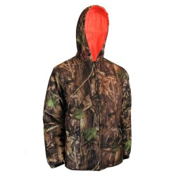 Camo Hunting Jacket Reversible to Polyester Fl. Orange